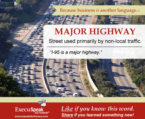 major highway word of the day